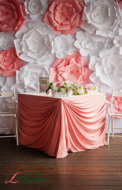 Оформление зала бумажными цветами своими руками 751